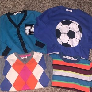4 H&M Boys Knit Sweaters 6-8 Yrs